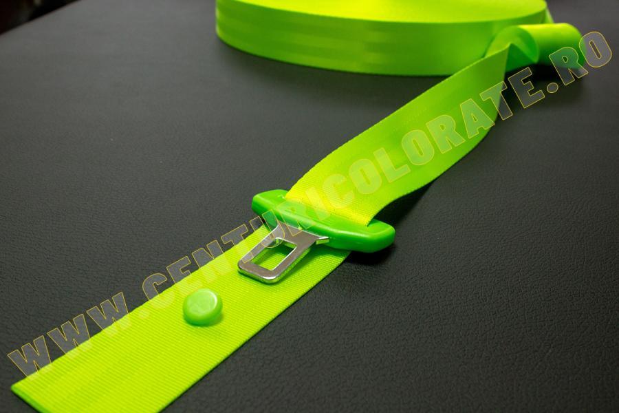 Centura siguranta verde neon Opel Agila